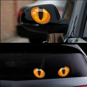 2pcs-Waterproof-Scratches-Exterior-Auto-Decal-Cat-Eyes-Motorcycle-Car-Stickers