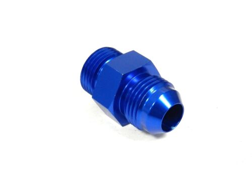 4 4AN FLARE TO 8X1.0MM NPT MALE FITTING BLUE UNIVERSAL ALUMINUM STRAIGHT