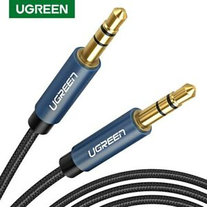 Ugreen-Cable-AUX-jack-3-5-mm-cable-audio-plaque-or-pour-Voiture-iPhone-Tab-MP3-MP4