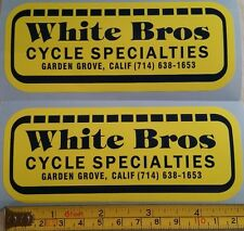 2! White Bros decal sticker AHRMA Vintage Motocross CR YZ RM 125 250 400 465 500