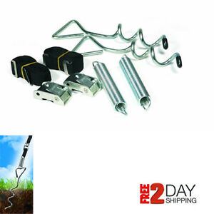 Rv Awning Anchor Kit With Pull Tension Strap For Camper And Travel Trailer 42593 Ebay