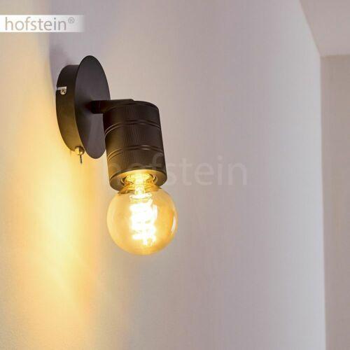 Wand Lampe verstellbar Flur Strahler Schalter Wohn Schlaf Zimmer Leuchte schwarz