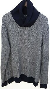 Odin-New-York-sweater-men-039-s-size-Extra-Large-Navy-Blue-soft-oversized-Collared