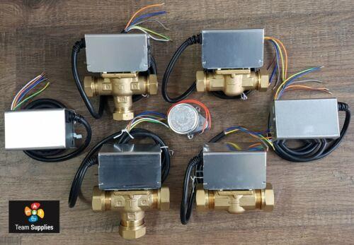 Stellmotor Köpfe /& Motorisierte Zone Ventile 2 Or 3 Port 22mm 28mm Ersatz