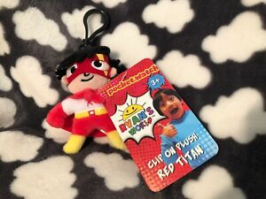 NEW-Ryan-s-World-Red-Titan-Clip-On-Plush-Soft-Toy