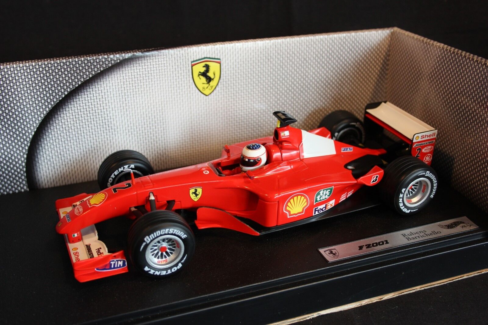 Hot Wheels Ferrari F2001 2001 1 18  2 Rubens Barrichello (BRA)