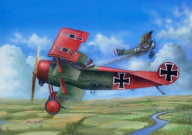 MERIT INTERNATIONAL MER62403 FOKKER Dr.1, 1 24 SCALE KIT