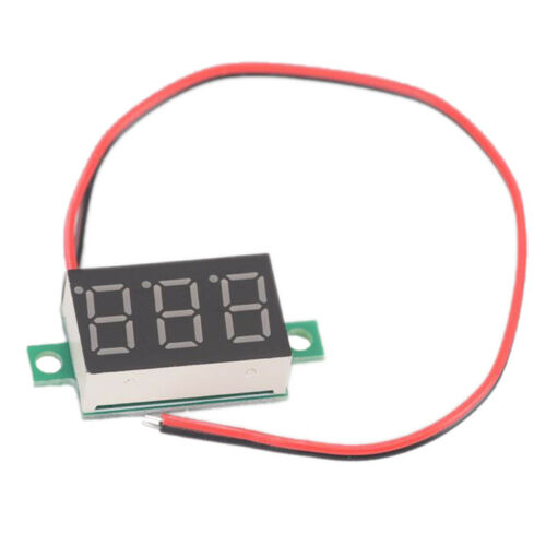 3-Wires Mini DC 0-100V Voltmeter LED Panel 3-Digital Display Voltage Meter YR
