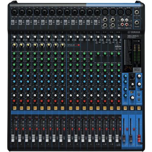 20 Kanal Studio Mischpult Mixer PA Bühne OVP /& NEU Yamaha MG20XU
