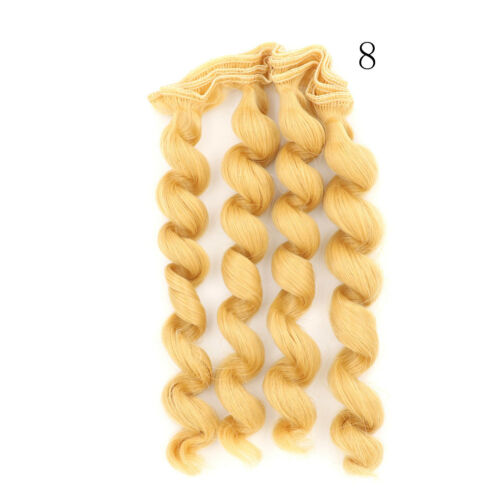 15cm x 100cmnatural color curly doll wigs hair DIY for 1//3 1//4 1//6 DOL