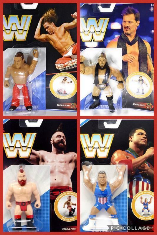 WWE COMPLETE SERIES ALL 4 RETRO APP MATTEL SERIES 7  WRESTLING ACTION FIGURE NXT  produits créatifs