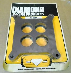 Diamond-Racing-Products-02-6568-Phenolic-Carb-Spacer-4-Hole-1-0-034-Thick-1-600-034