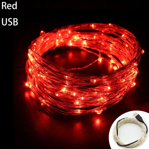 1-10M USB LED Copper Wire String Fairy Light Strip Lamp Xmas Party Waterproof FH