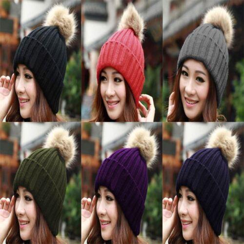 Hat Benny Beanie Cap Unisex Women Knit Ski Hats Pom Pom Bennie Mens Slouch Warm