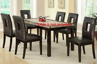 High-back Dining Room Chairs 4 Piece Set