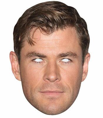 Chris Hemsworth Celebrita 'singolo 2d Carta Festa Maschera-attore Hollywoodiano-mostra Il Titolo Originale Prezzo Di Strada