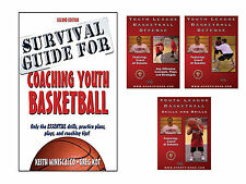 Basketball Survival Guide for Coaching Book & Youth League DVD Set Free Shipping