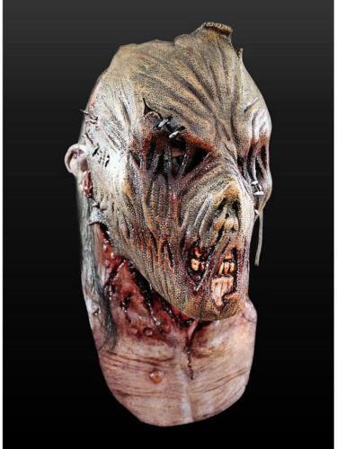 """Maske für Erwachsene /""""Zombie-Vogelscheuche/"""" Latex Universalgröße Kostüm Zombie"""