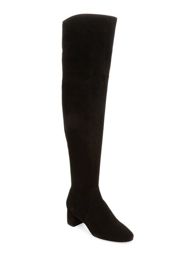 Maiden Lane Juani Black Suede Over the Knee Boots Size 9 M Women's New