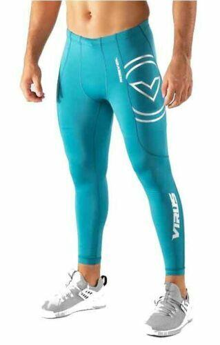 Gym Virus Homme RX7-V3 Stay Cool Tech Compression Pantalon Bay Bleu Course Crossfit