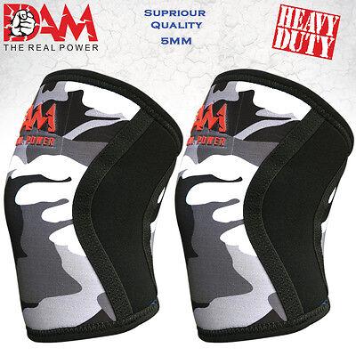 Knee Sleeves Powerlifting Weightlifting Patella Support Brace Protector Gray