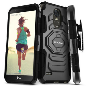 LG-Stylo-3-Stylo-3-Plus-Case-Evocel-Dual-Layer-Case-with-Kickstand-amp-Holster
