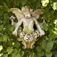 Gliding Angel Looking Right Wall Art Garden Sculpture Hanging By Orlandi Fs7718