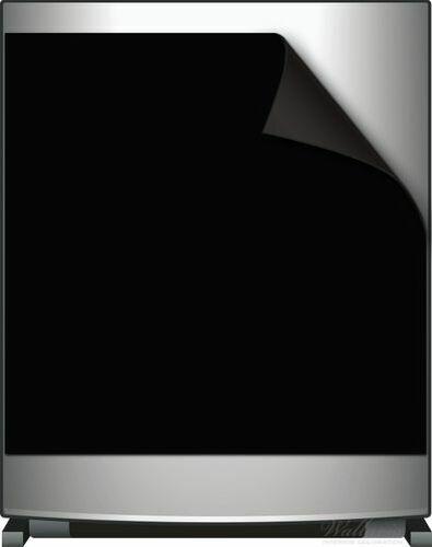 Wallario Kühlschrank//Geschirrspüler-Magnet 60x60cm Schwarz einfarbig monochrom