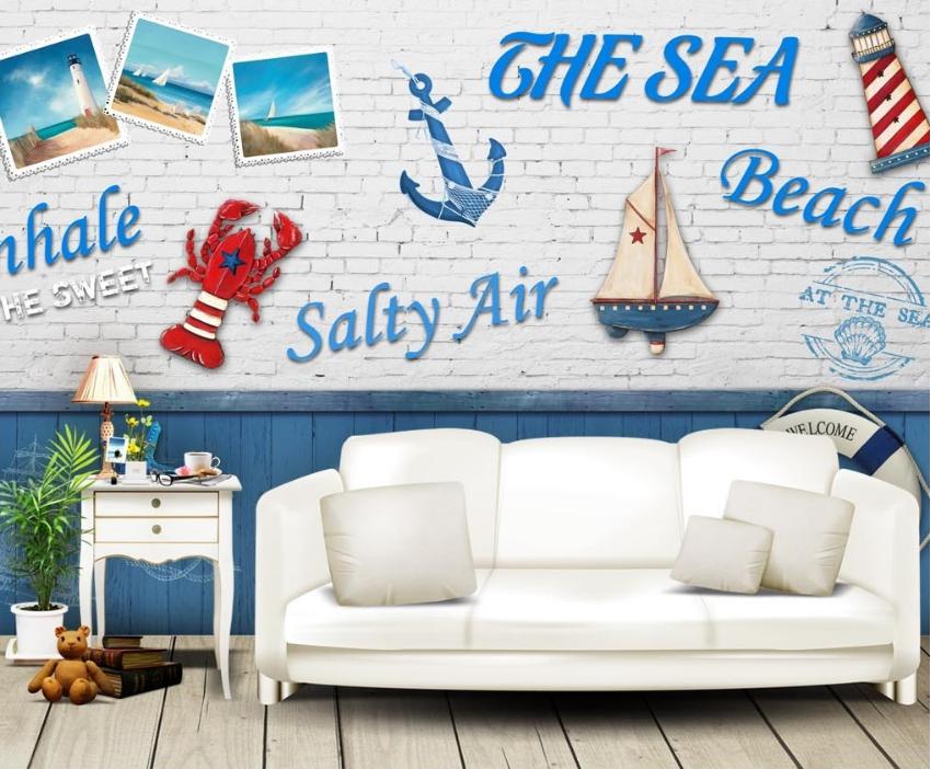 3D Ozeanclub 845 845 845 Tapete Wandgemälde Tapete Tapeten Bild Familie DE Summer   Haltbarkeit     588f74