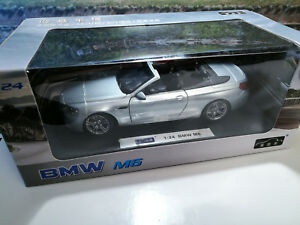 1-24-BMW-M6-CABRIO-Light-GREY-met-NEW-in-its-sealed-BOX-like-new