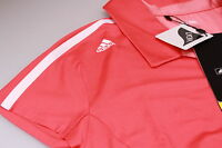 Funky Adidas Climalite Lycra Stretch Golf Polo Shirt Open Neck Bright Coral S 10