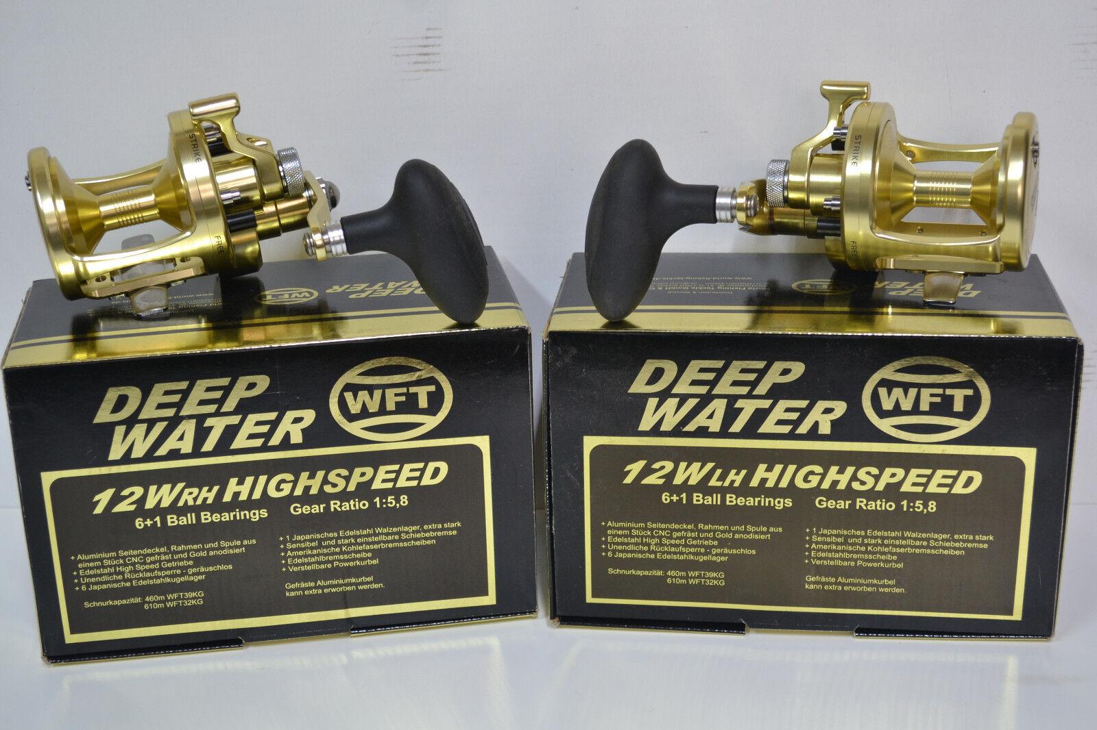 WFT Deep Water 12W High Speed Rechtshand/Linkshand Model Multirolle Angelrolle