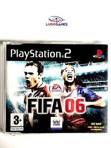 Fifa-06-2006-EUR-PS2-Demo-Retro-Playstation-Videogame-Videojuego-Mint-State