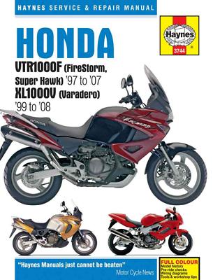 Haynes Workshop Manual Honda VTR XL Firestorm 1998-2007 Super Hawk Varadero