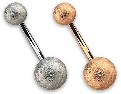 Piercingschmuck Piercing-/körperschmuck Bauchnabel Intim Piercing Banane Kugeln In 8/5 Diamantiert Silber Und Rose Gold SchöNer Auftritt