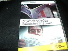"DVD NF ""NUMEROS ZERO - NAISSANCE D'UN JOURNAL"" documentaire de Raymond DEPARDON"