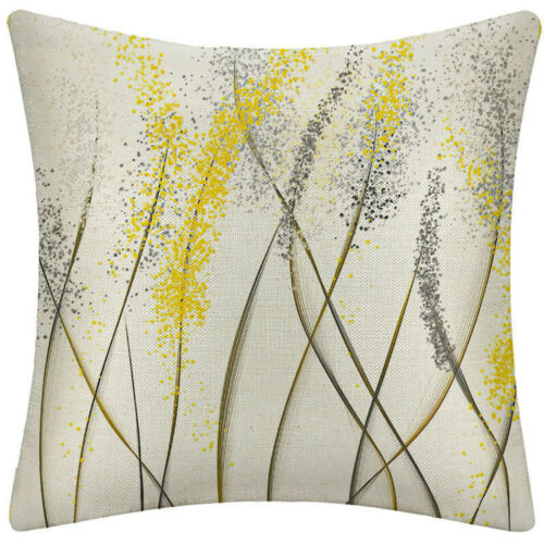 Nature Elegance Decorative Throw Pillow Cases Linen Indoor Square Cushion Cover