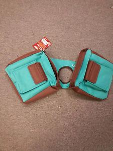 Turquoise-Brown-Trail-Saddle-INSULATED-Multi-Pocket-Horn-Bag-Pommel-Horse-Tack