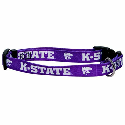NEW KANSAS STATE WILDCATS PET SET DOG COLLAR LEASH ID TAG ALL SIZES