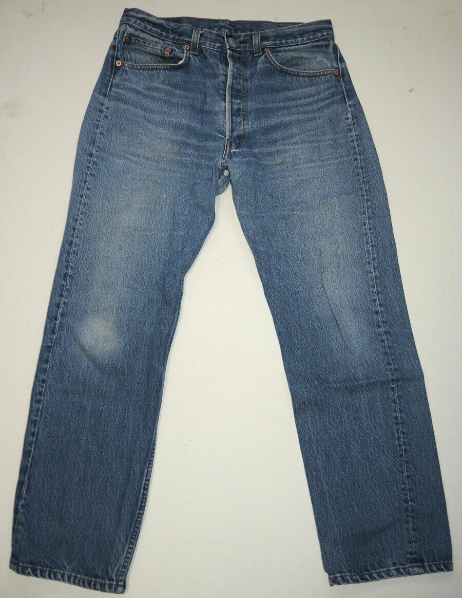 Vtg 90s Levi's 501 Jeans Made In USA Faded 32.5x2… - image 1