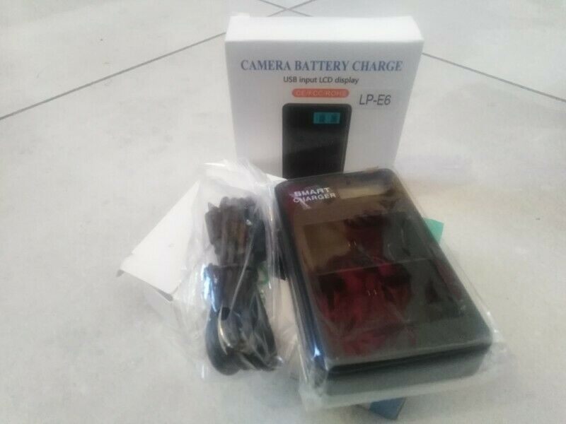 Dual Canon LP-E6 Battery Charger (Replacement)