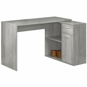Details About Monarch L Shaped Computer Desk Storage Cabinet In Gray