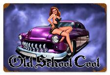 * 50er Rockabilly Hotrod Oldtimer Kustom 50s Pin-Up Vintage Schild Plakat *579