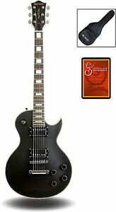 Leo Jaymz Full Size Single Cut Electric Guitar - Matt Black Color and Arched Top