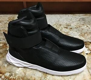 super popular 903a1 baa57 Image is loading NIKE-Hunter-Swoosh-Black-Lifestyle-Leather-High-Top-