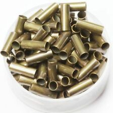 Vintage Brass  ( 3 MM Hole  X  5 MM Length ) Tube Spacer Beads  Pkg Of 100