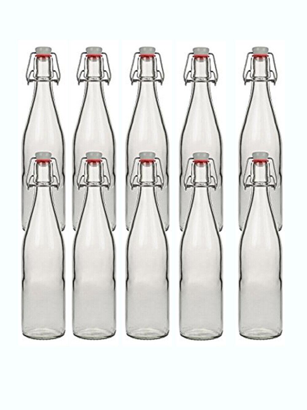 2 Leere Glasflaschen mit Bügelverschluss Bügelflasche 0,5L 500 ml Typ A Flasche