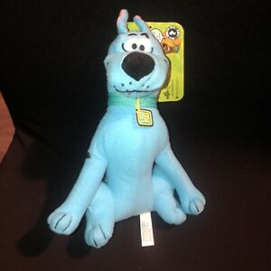"""New 9"""" Scooby-Doo Plush Ghost Scooby ?  Neon Blue Color Toy Factory Cute w/tag"""