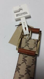 AUTHENTIC! MK MICHAEL KORS SIGNATURE WOMEN BELT
