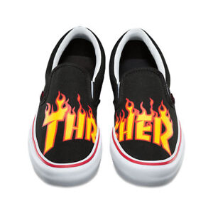 9688123b40 Vans THRASHER Slip-On Pro Shoes (NEW) Black Slip Ons FREE SHIP ...